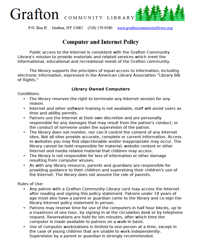 computer & internet policy