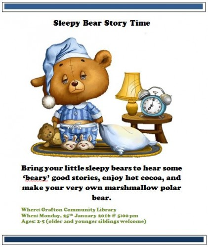 Sleepy Bear storytime