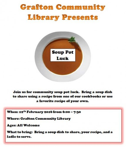 Soup pot luck flyer