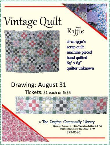 Vintage quilt raffle